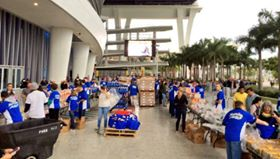 Marlins Partner with Feeding South Florida for Thanksgiving Meal Giveaway