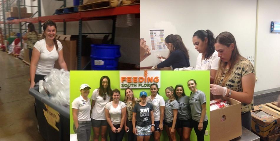 Women's Golf Volunteers at Feeding South Florida