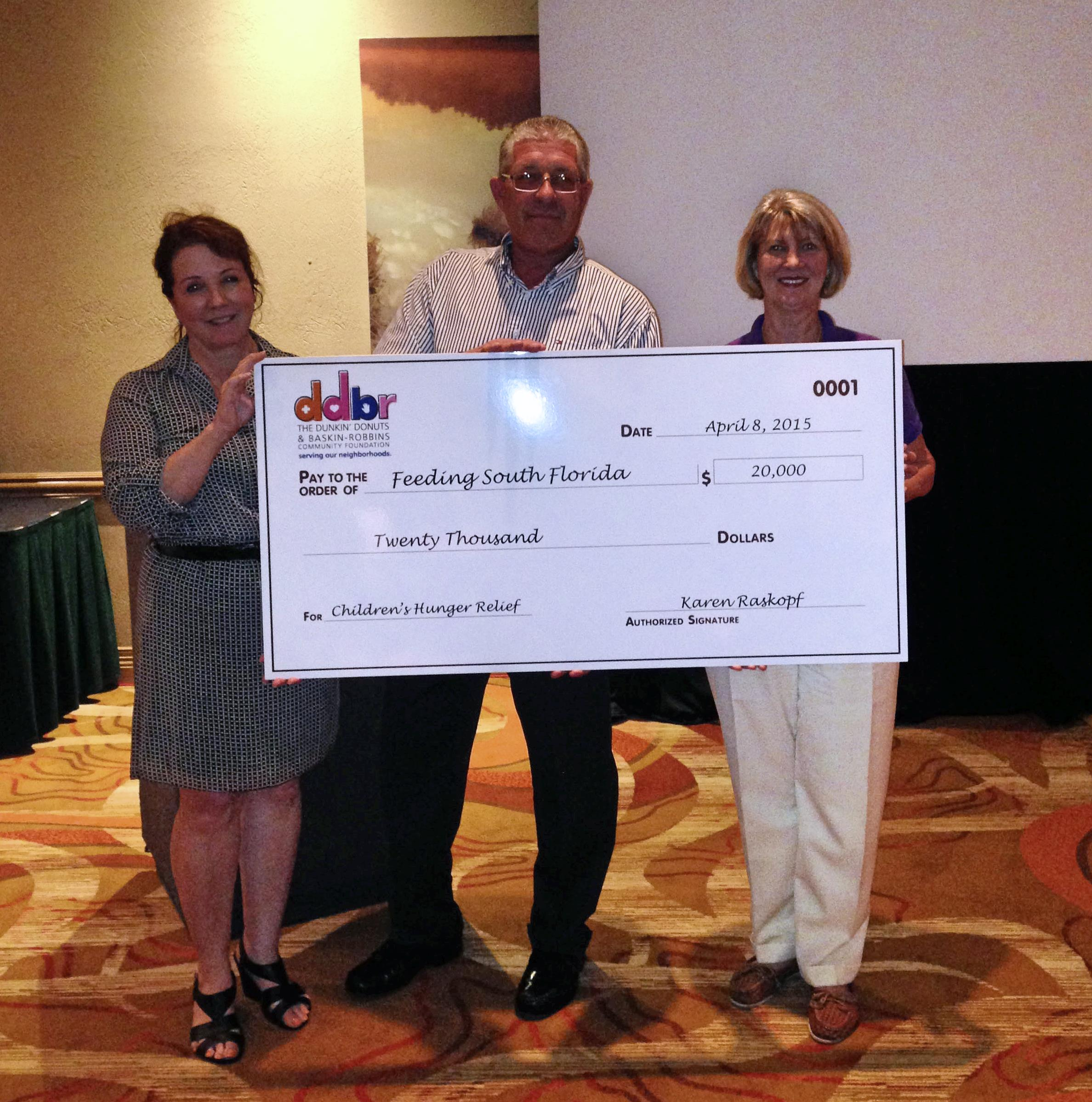 Feeding South Florida Receives a $20,000 Grant from The Dunkin' Donuts & Baskin-Robbins Community Foundation