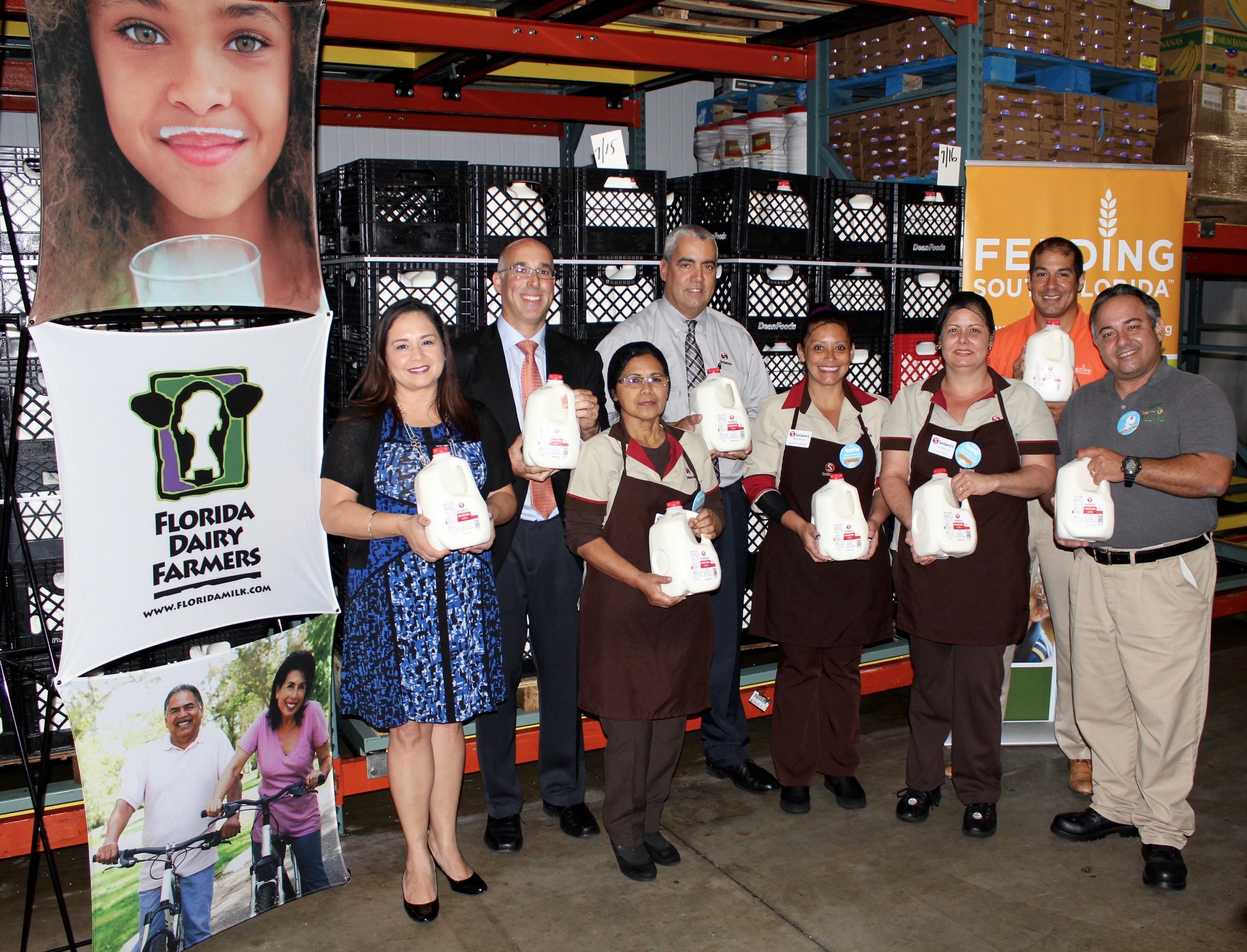 Feeding South Florida® Board Members, Community Leaders & Elected Officials Celebrate End of  The Great American Milk Drive, with Nearly 6,000 Gallons of Milk Donated to Benefit Families in Need