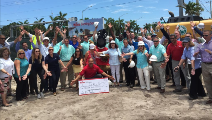 Wawa breaks ground in two South Florida cities; and marked the event with a $5,000 donation to Feeding South Florida