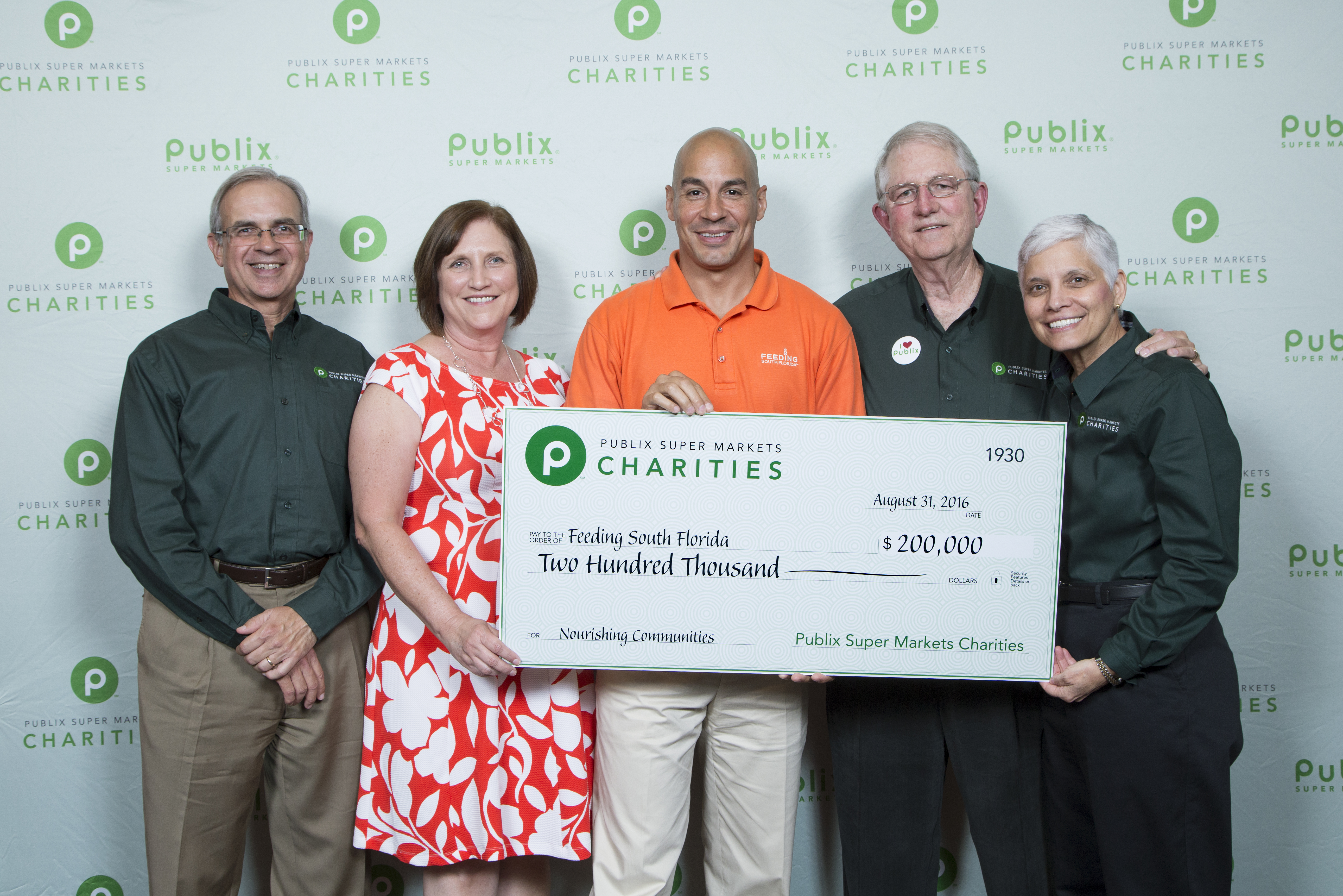 Publix Super Markets Charities to Present $200,000 Check to Feeding South Florida® During Sept. 9 Mobile Food Distribution in Miami