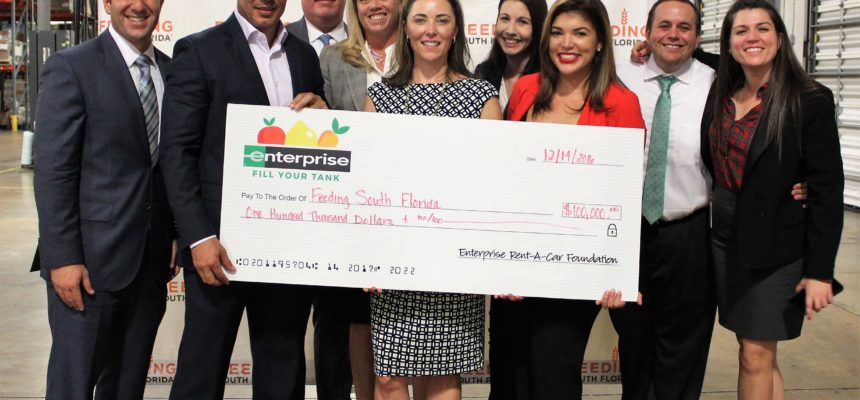 Enterprise Rent-A-Car Foundation Donates $100,000 to Feeding South Florida®