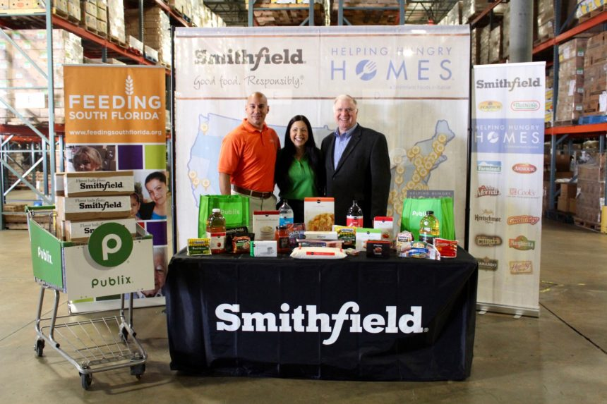 Smithfield Foods' Helping Hungry Homes Initiative Partners with Publix to Donate More Than 30,000 Pounds of Protein to Feeding South Florida