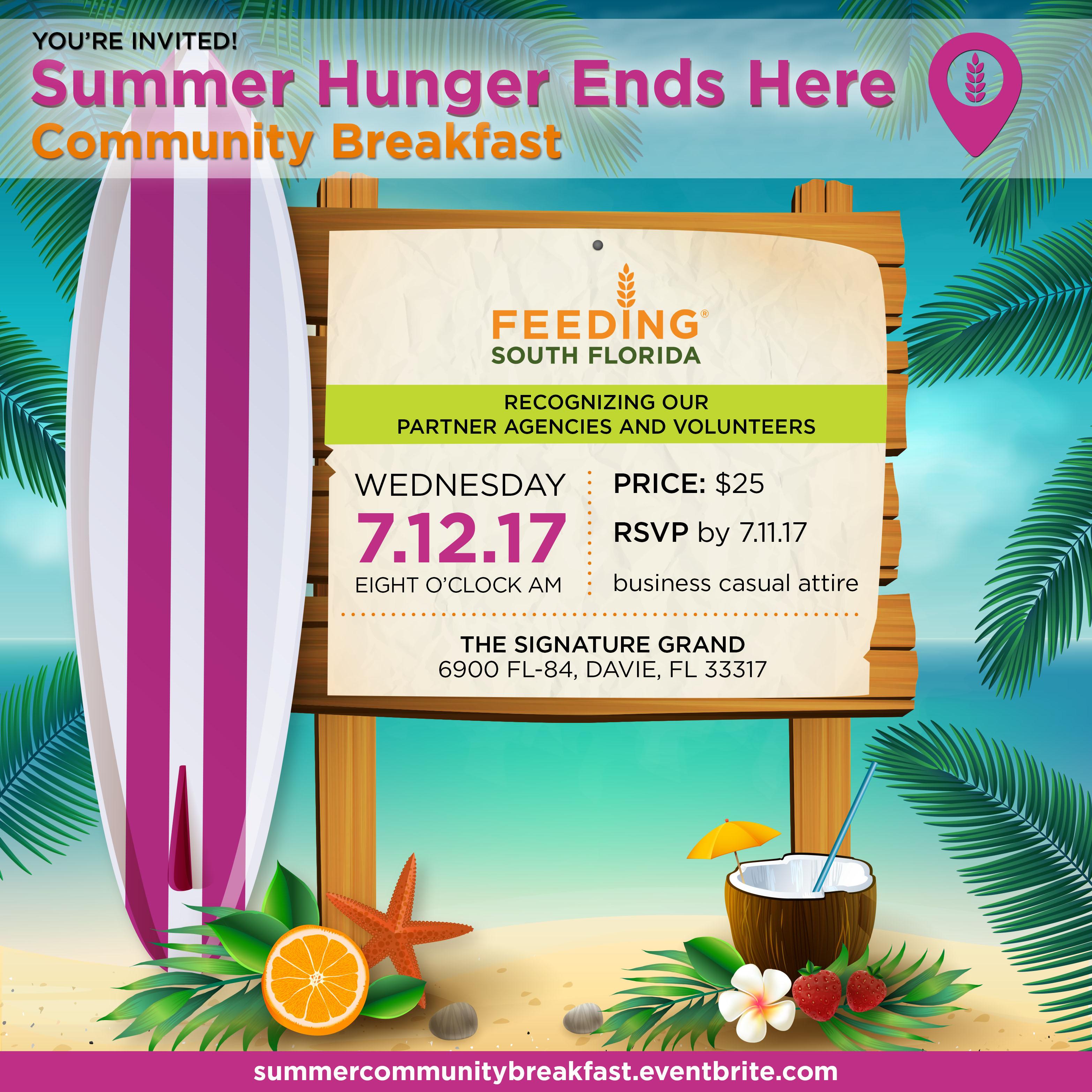 Summer Hunger Ends Here Community Breakfast