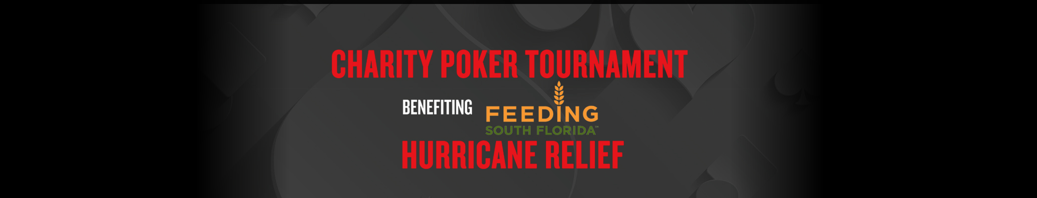 Seminole Hard Rock Hotel & Casino Presents Charity Poker Tournament to Benefit Feeding South Florida's Hurricane Relief Efforts In Association with PokerStars