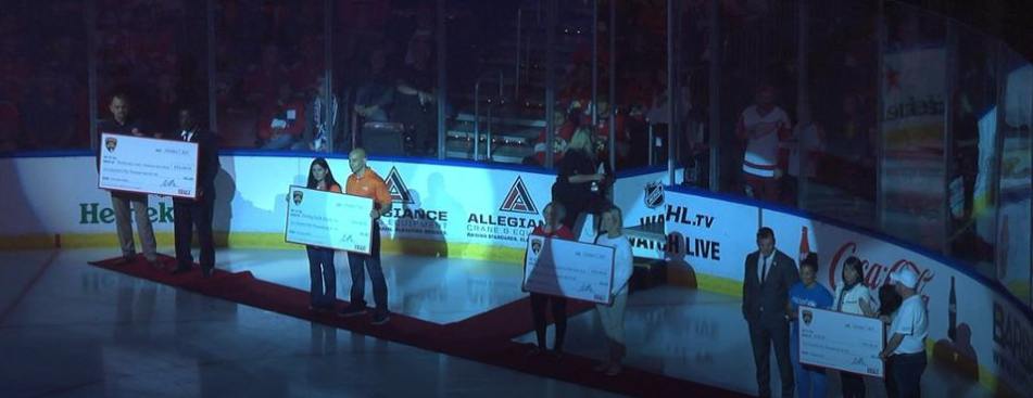 Hurricane Heroes Celebrated at Florida Panthers' Home Opener