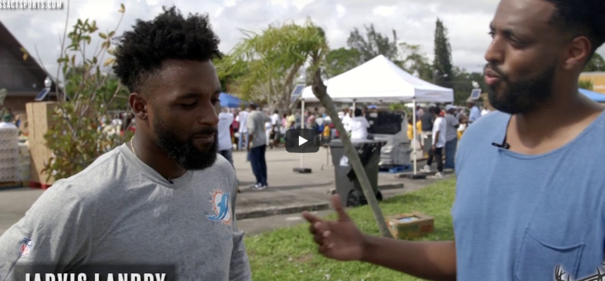 Jarvis Landry Shares Supplies, Stories, And Smiles With Hurricane Victims