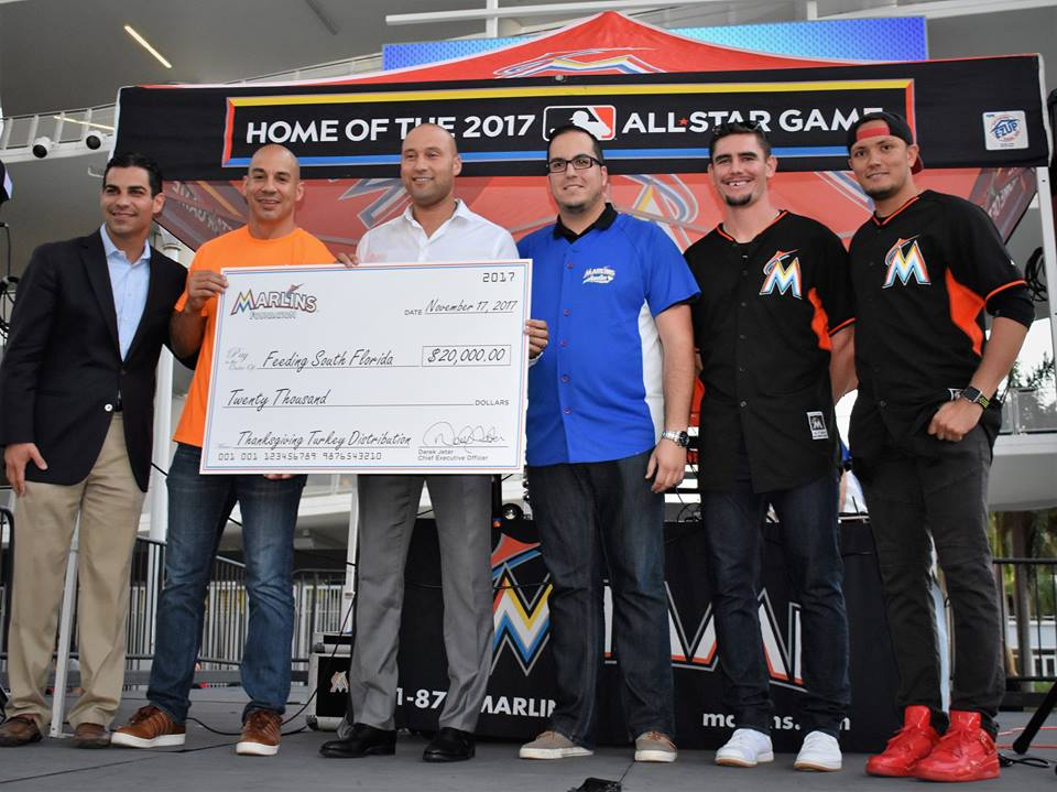 Derek Jeter & The Marlins Step Up To The Plate For Thanksgiving