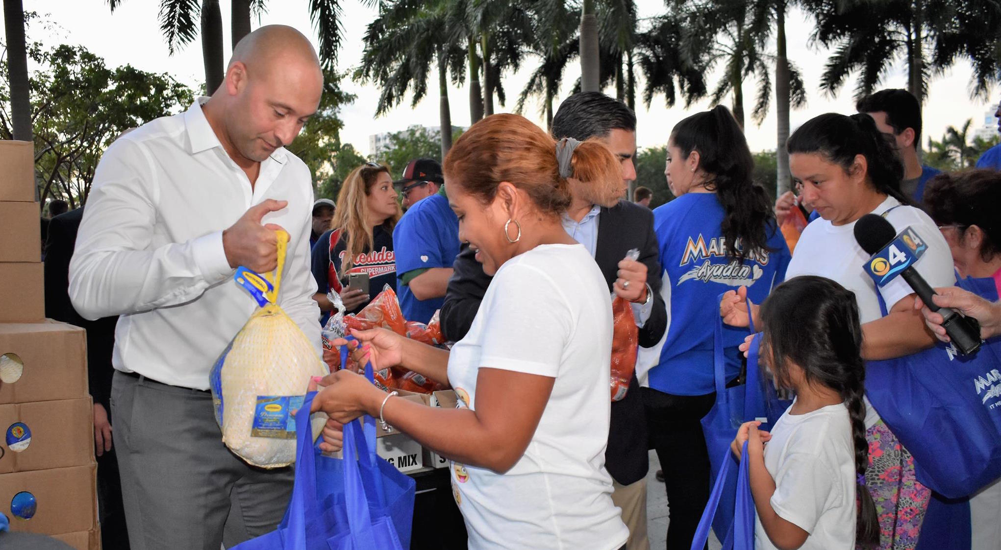Derek Jeter Announces Marlins Will Donate $200,000 to Hurricane Relief