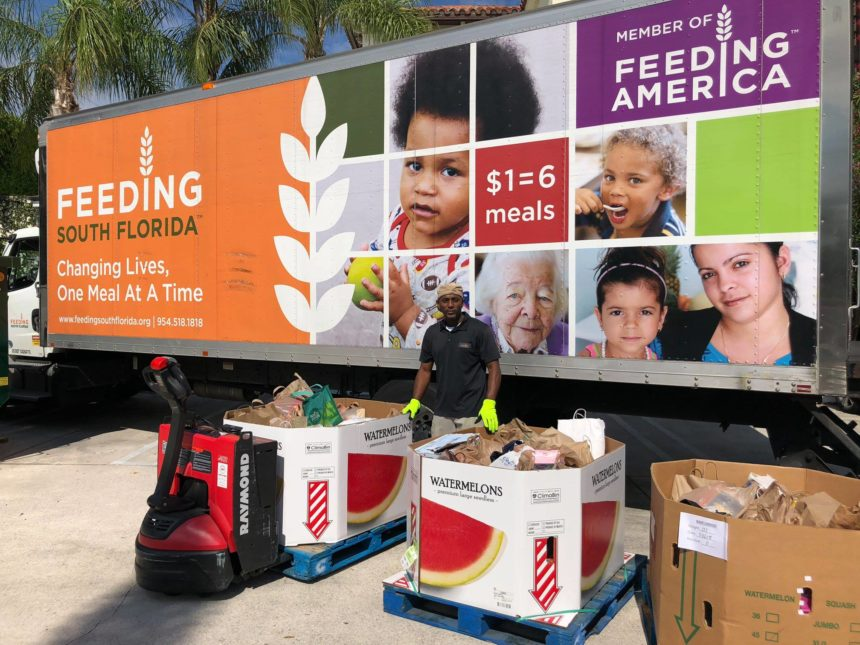 Palm Beach Daily News Drive Brings in 2,215 Pounds of Food