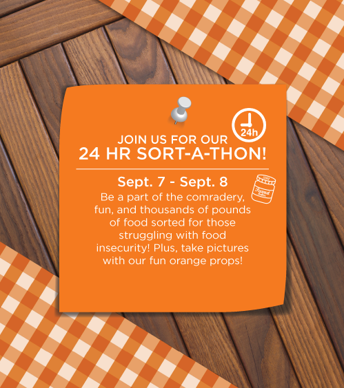 24 Hour Hunger Action Month Sort-A-Thon