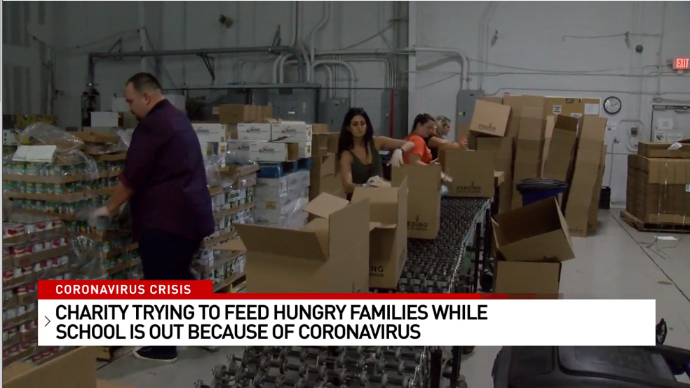 Charity trying to feed hungry families while school is out because of coronavirus
