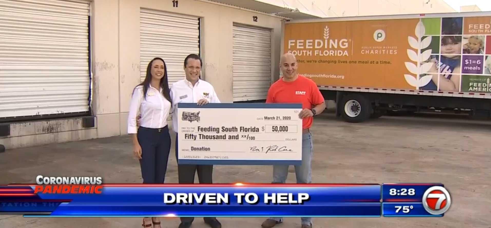Rick Case Automotive Group donates $50K to Feeding South Florida