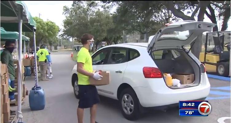 Food drives across South Florida help hundreds struggling during coronavirus pandemic
