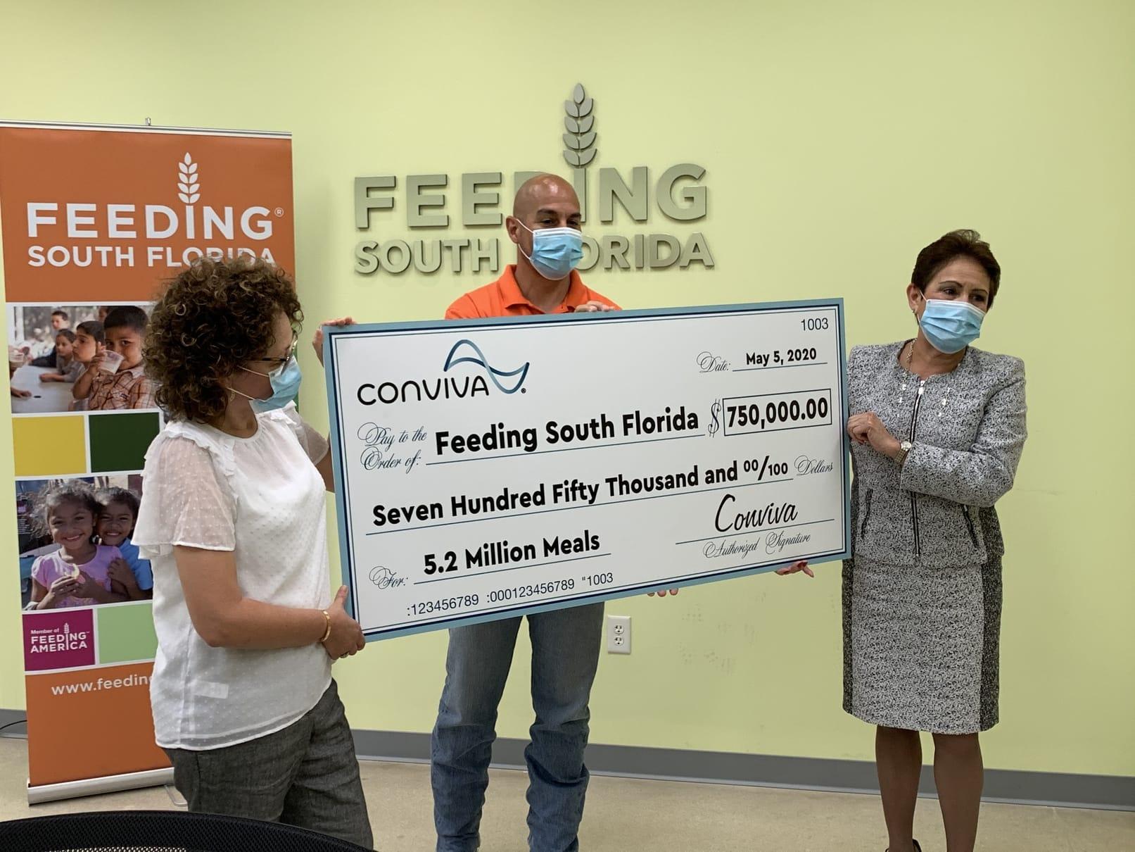 Conviva Care Centers donates $750,000 to Feeding South Florida