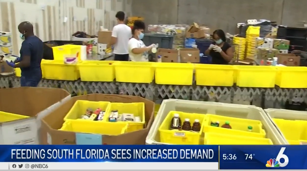 WTVJ | Feeding South Florida Sees Decrease in Food Boxes From the USDA