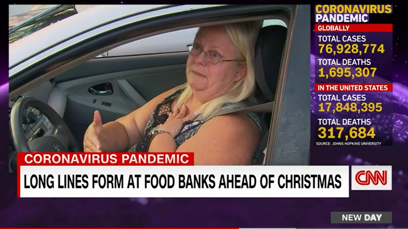 CNN | Hundreds of Floridians line up for free groceries as growing demand, decreasing supply pinches food banks