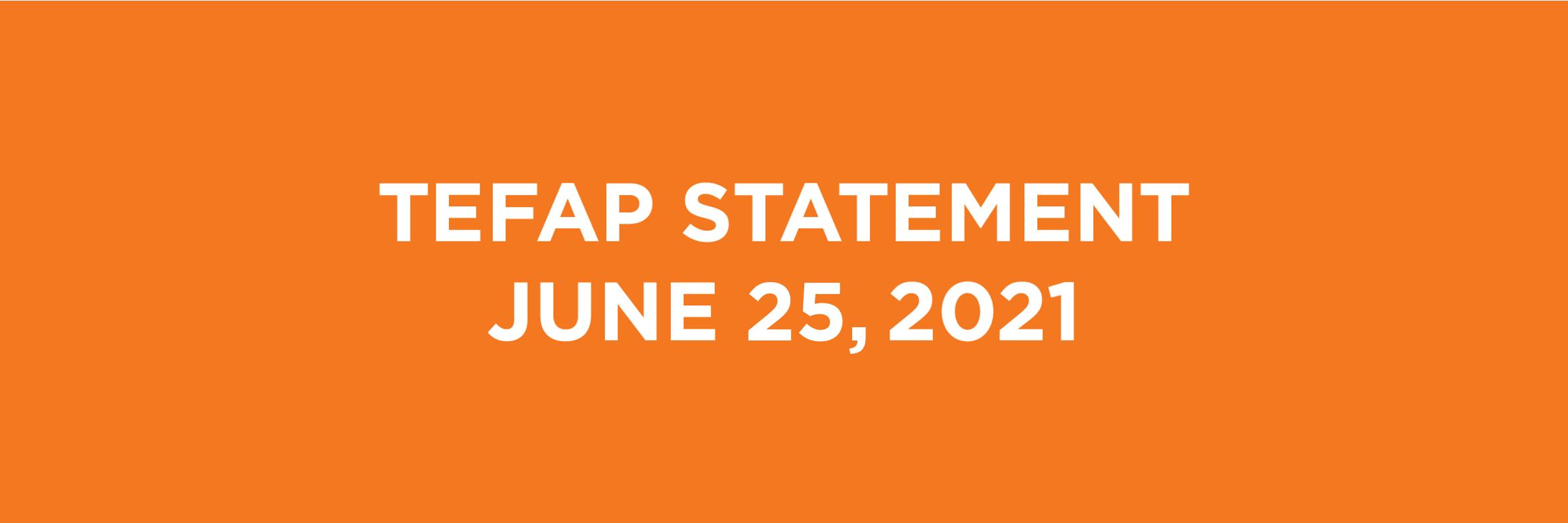 Feeding South Florida's TEFAP Statement | June 25, 2021