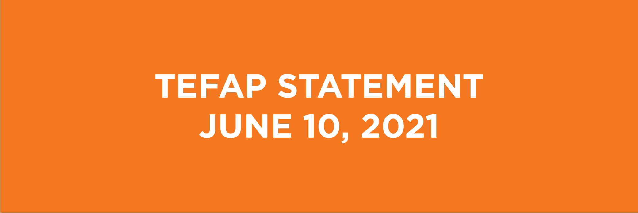 Feeding South Florida's TEFAP Statement – June 10, 2021