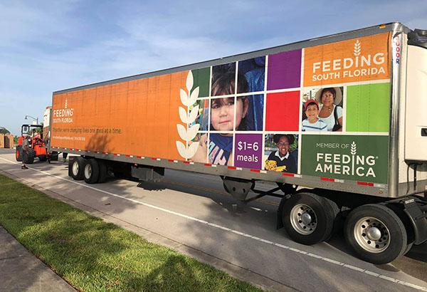 Feeding South Florida Truck At Royal Palm Beach Food Distribution